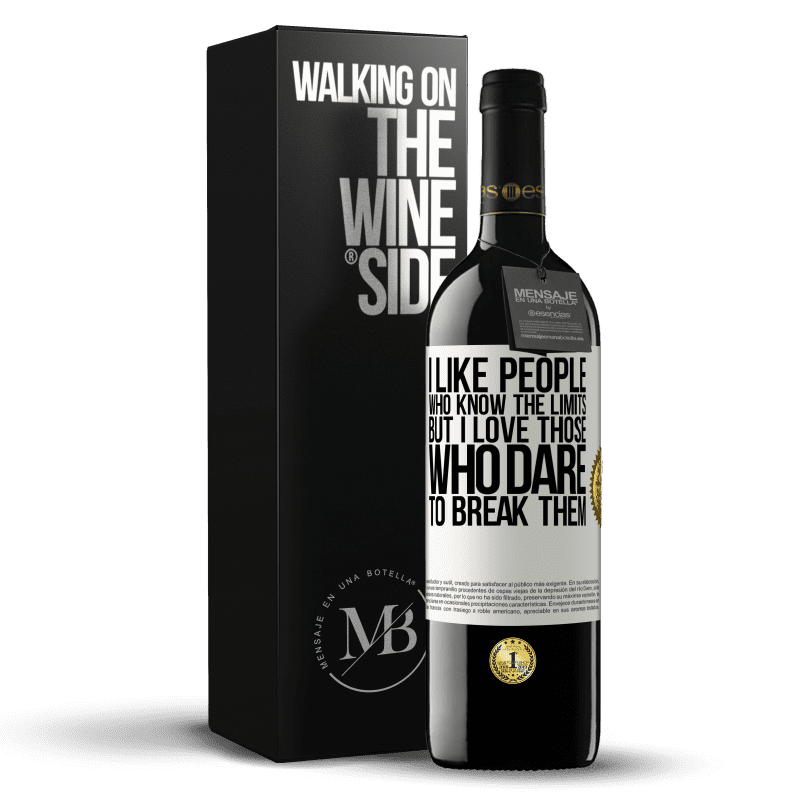 24,95 € Free Shipping | Red Wine RED Edition Crianza 6 Months I like people who know the limits, but I love those who dare to break them White Label. Customizable label Aging in oak barrels 6 Months Harvest 2018 Tempranillo