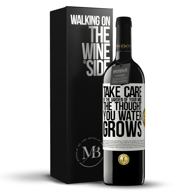 24,95 € Free Shipping | Red Wine RED Edition Crianza 6 Months Take care of the garden of your mind. The thought you water grows White Label. Customizable label Aging in oak barrels 6 Months Harvest 2018 Tempranillo