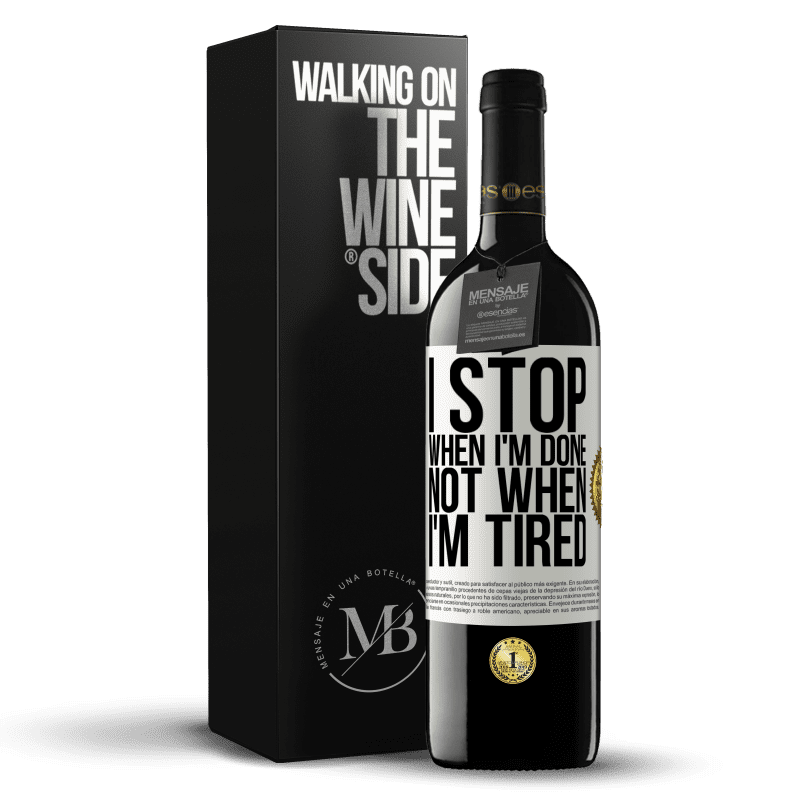 24,95 € Free Shipping | Red Wine RED Edition Crianza 6 Months I stop when I'm done, not when I'm tired White Label. Customizable label Aging in oak barrels 6 Months Harvest 2018 Tempranillo