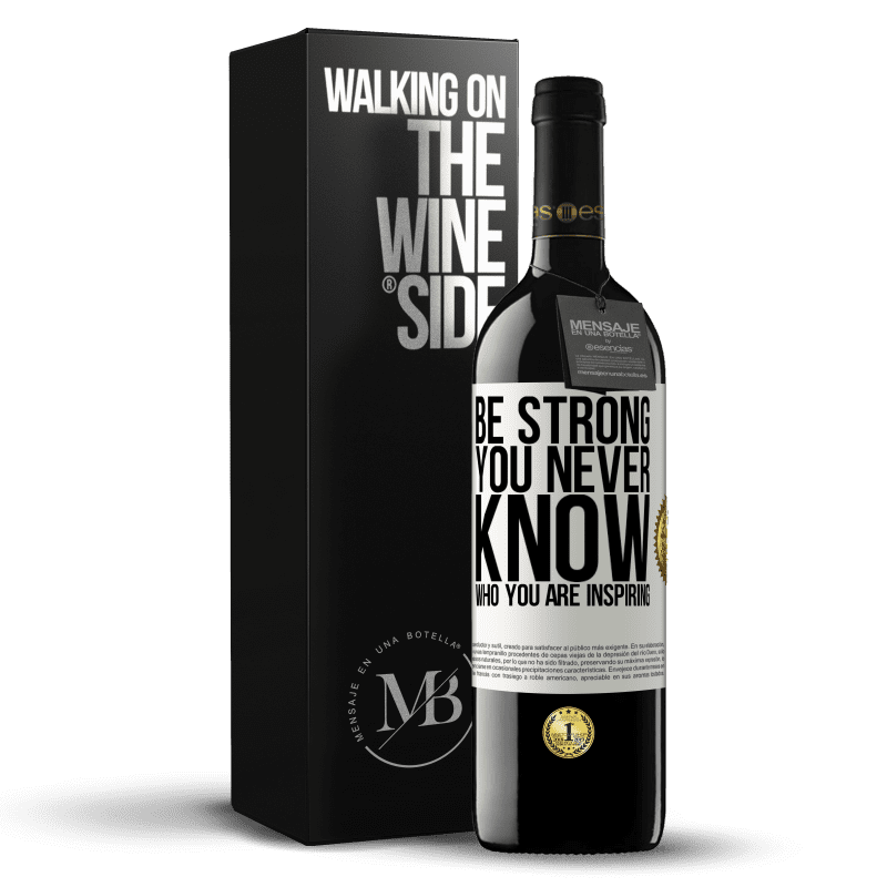 24,95 € Free Shipping | Red Wine RED Edition Crianza 6 Months Be strong. You never know who you are inspiring White Label. Customizable label Aging in oak barrels 6 Months Harvest 2018 Tempranillo