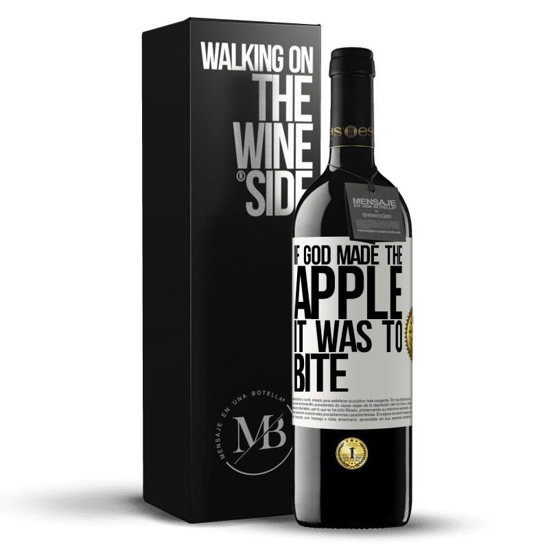 24,95 € Free Shipping | Red Wine RED Edition Crianza 6 Months If God made the apple it was to bite White Label. Customizable label Aging in oak barrels 6 Months Harvest 2018 Tempranillo