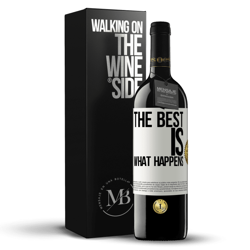 24,95 € Free Shipping | Red Wine RED Edition Crianza 6 Months The best is what happens White Label. Customizable label Aging in oak barrels 6 Months Harvest 2018 Tempranillo