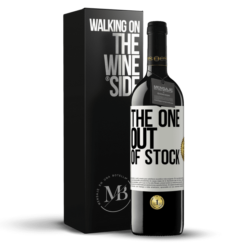 24,95 € Free Shipping | Red Wine RED Edition Crianza 6 Months The one out of stock White Label. Customizable label Aging in oak barrels 6 Months Harvest 2018 Tempranillo