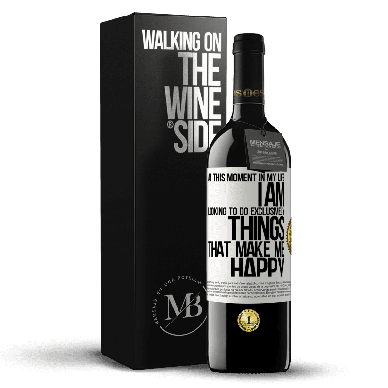 24,95 € Free Shipping | Red Wine RED Edition Crianza 6 Months At this moment in my life, I am looking to do exclusively things that make me happy White Label. Customizable label Aging in oak barrels 6 Months Harvest 2018 Tempranillo