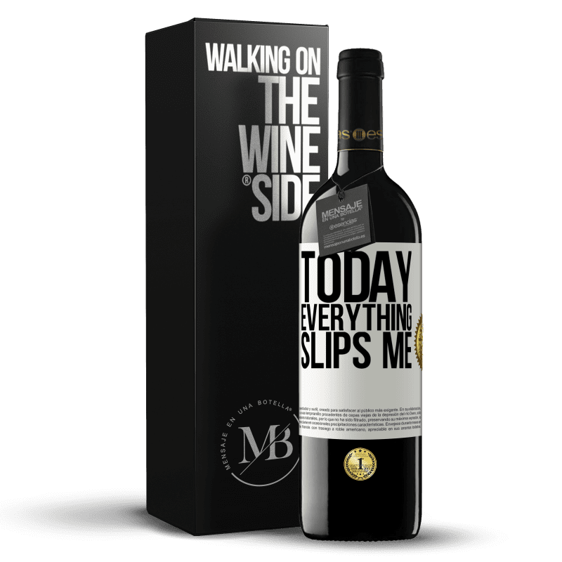24,95 € Free Shipping | Red Wine RED Edition Crianza 6 Months Today everything slips me White Label. Customizable label Aging in oak barrels 6 Months Harvest 2018 Tempranillo