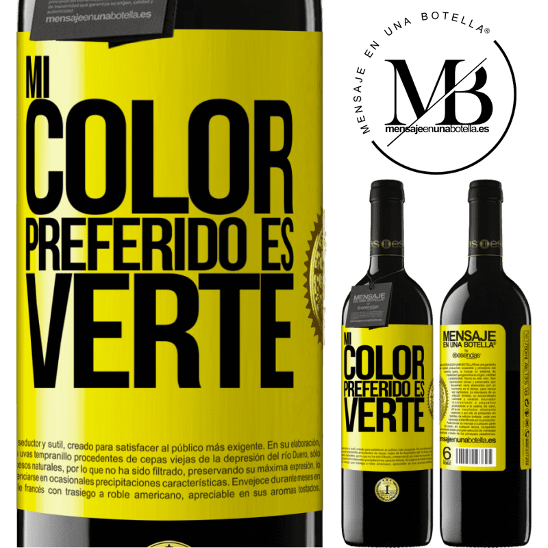 24,95 € Free Shipping   Red Wine RED Edition Crianza 6 Months Mi color preferido es: verte Yellow Label. Customizable label Aging in oak barrels 6 Months Harvest 2018 Tempranillo