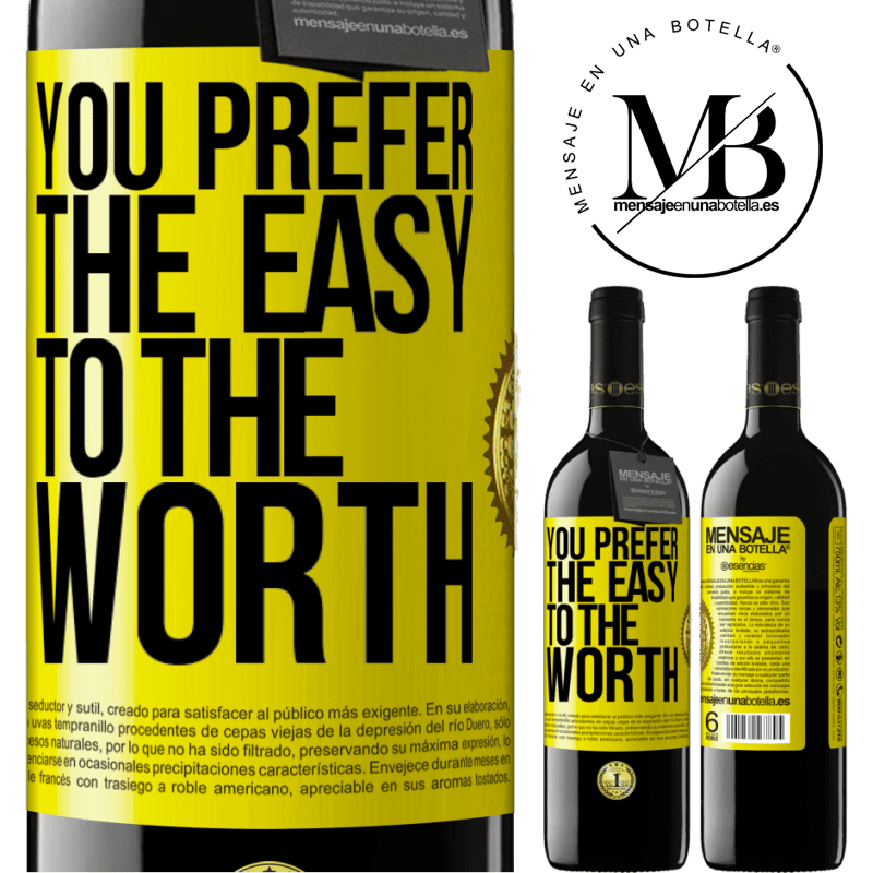 24,95 € Free Shipping | Red Wine RED Edition Crianza 6 Months You prefer the easy to the worth Yellow Label. Customizable label Aging in oak barrels 6 Months Harvest 2018 Tempranillo
