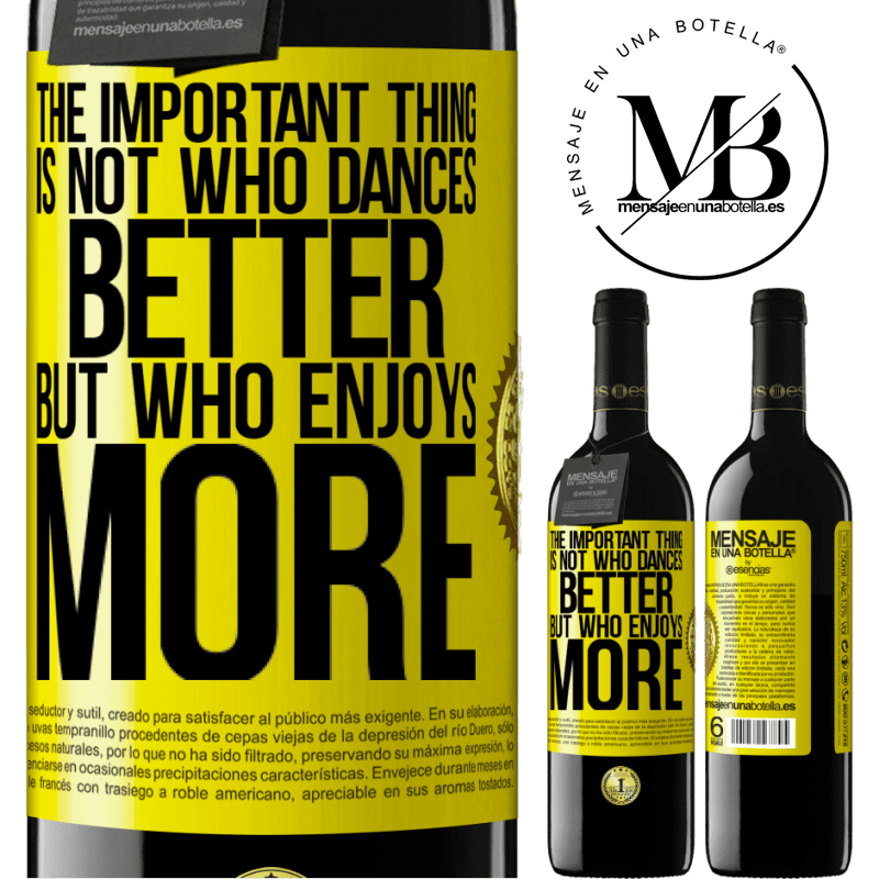 24,95 € Free Shipping | Red Wine RED Edition Crianza 6 Months The important thing is not who dances better, but who enjoys more Yellow Label. Customizable label Aging in oak barrels 6 Months Harvest 2018 Tempranillo