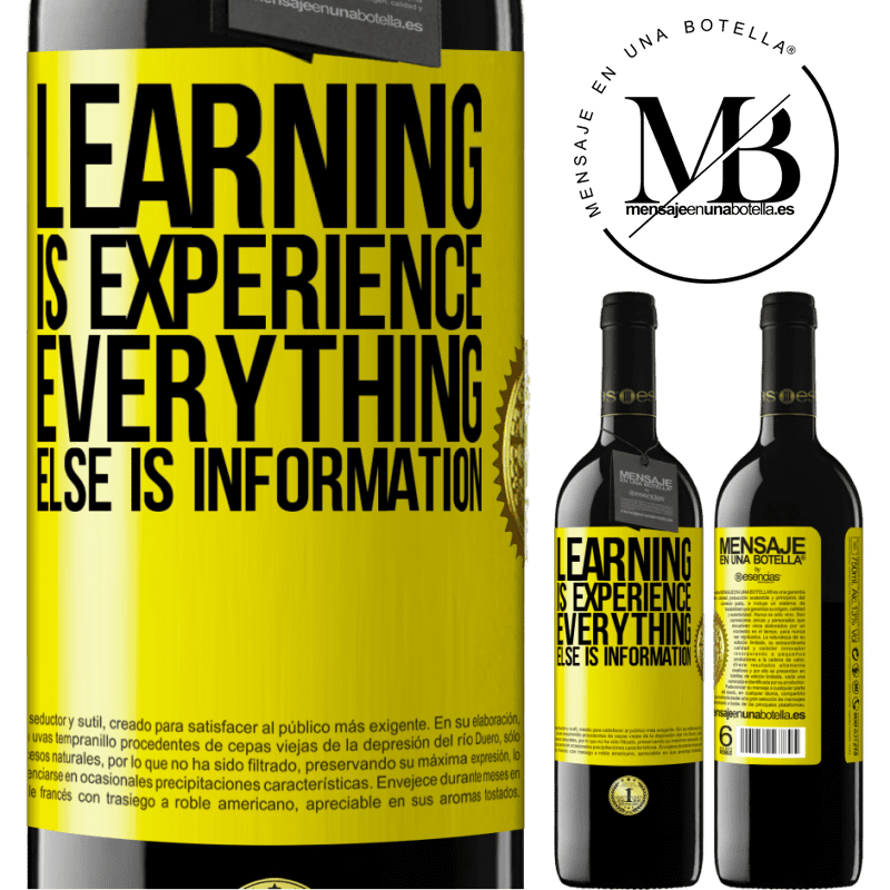 24,95 € Free Shipping | Red Wine RED Edition Crianza 6 Months Learning is experience. Everything else is information Yellow Label. Customizable label Aging in oak barrels 6 Months Harvest 2018 Tempranillo