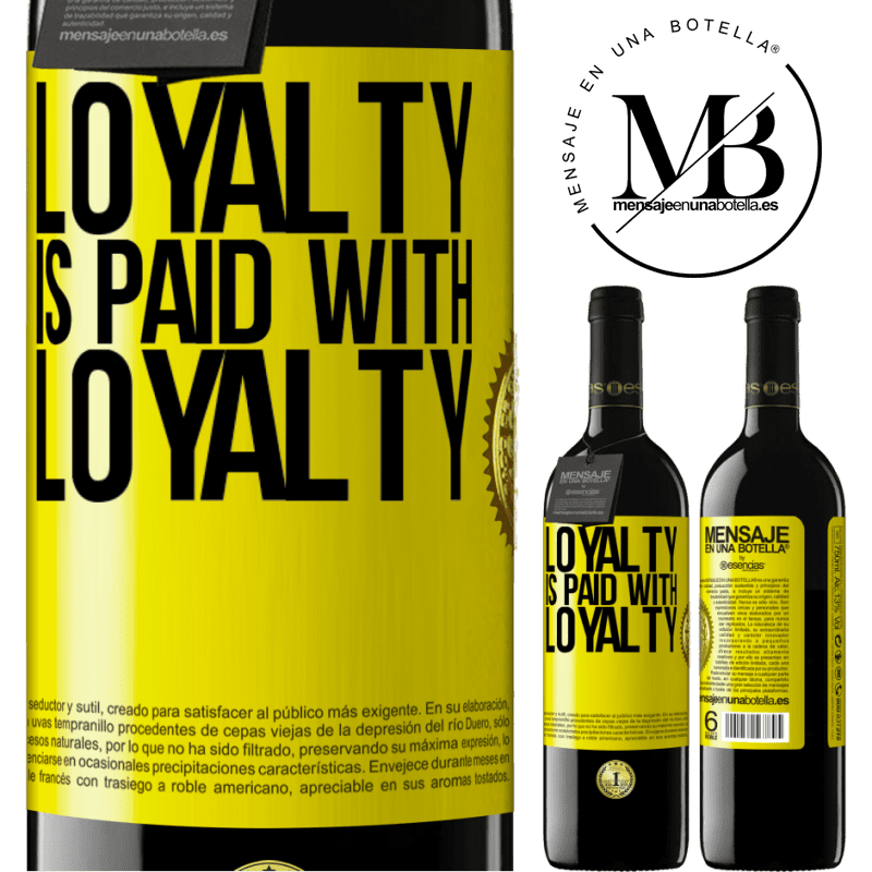 24,95 € Free Shipping   Red Wine RED Edition Crianza 6 Months Loyalty is paid with loyalty Yellow Label. Customizable label Aging in oak barrels 6 Months Harvest 2018 Tempranillo