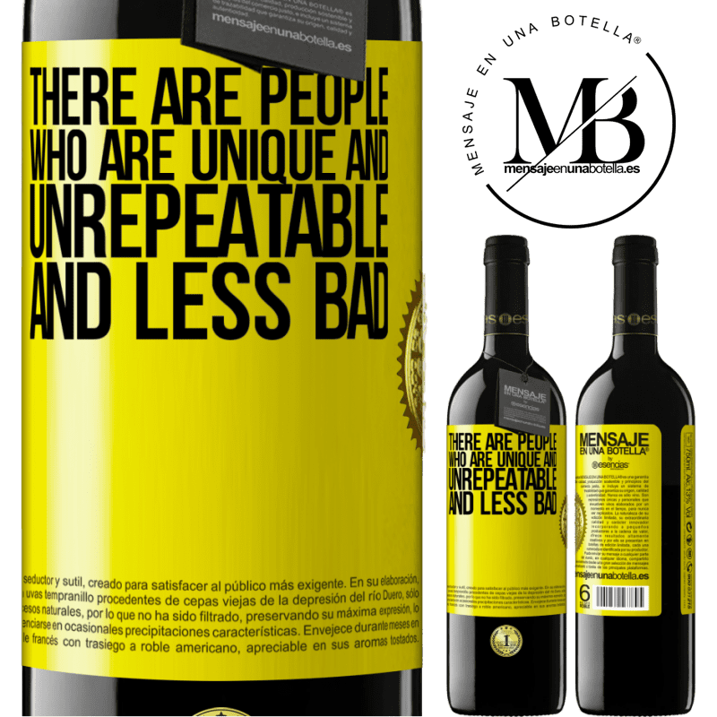 24,95 € Free Shipping | Red Wine RED Edition Crianza 6 Months There are people who are unique and unrepeatable. And less bad Yellow Label. Customizable label Aging in oak barrels 6 Months Harvest 2018 Tempranillo