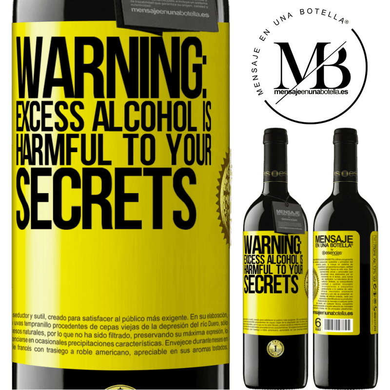 24,95 € Free Shipping | Red Wine RED Edition Crianza 6 Months Warning: Excess alcohol is harmful to your secrets Yellow Label. Customizable label Aging in oak barrels 6 Months Harvest 2018 Tempranillo