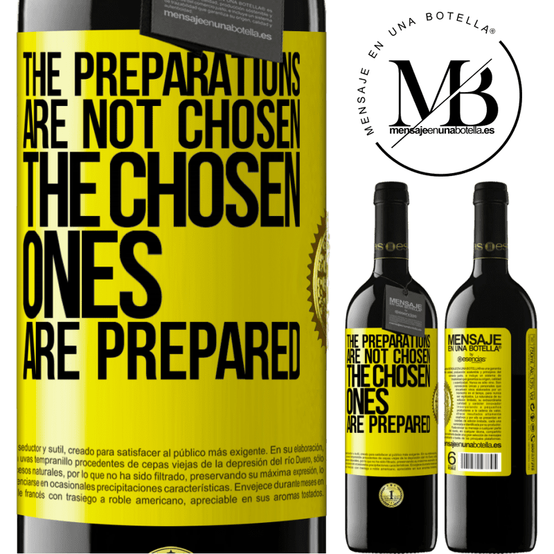24,95 € Free Shipping | Red Wine RED Edition Crianza 6 Months The preparations are not chosen, the chosen ones are prepared Yellow Label. Customizable label Aging in oak barrels 6 Months Harvest 2018 Tempranillo