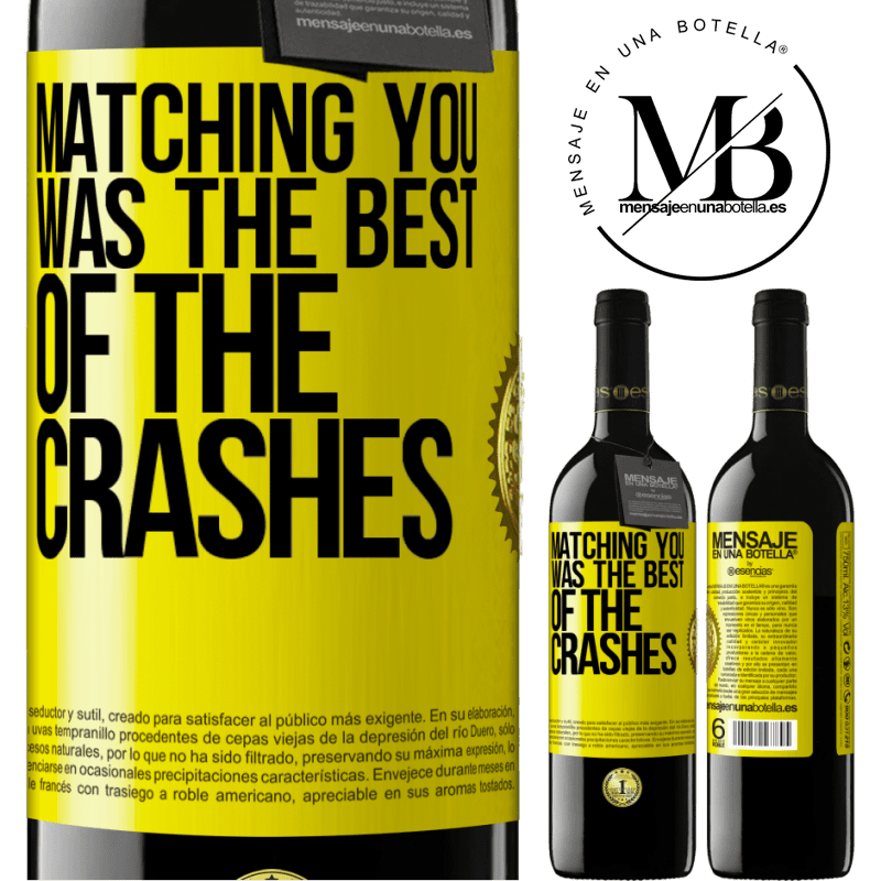 24,95 € Free Shipping | Red Wine RED Edition Crianza 6 Months Matching you was the best of the crashes Yellow Label. Customizable label Aging in oak barrels 6 Months Harvest 2018 Tempranillo