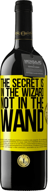 24,95 € Free Shipping | Red Wine RED Edition Crianza 6 Months The secret is in the wizard, not in the wand Yellow Label. Customizable label Aging in oak barrels 6 Months Harvest 2018 Tempranillo