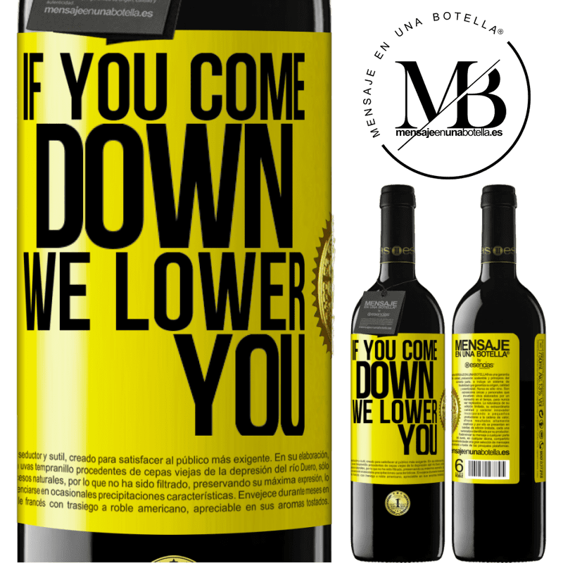 24,95 € Free Shipping | Red Wine RED Edition Crianza 6 Months If you come down, we lower you Yellow Label. Customizable label Aging in oak barrels 6 Months Harvest 2018 Tempranillo