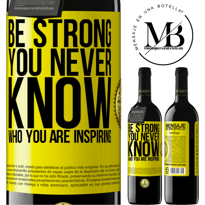 24,95 € Free Shipping | Red Wine RED Edition Crianza 6 Months Be strong. You never know who you are inspiring Yellow Label. Customizable label Aging in oak barrels 6 Months Harvest 2018 Tempranillo