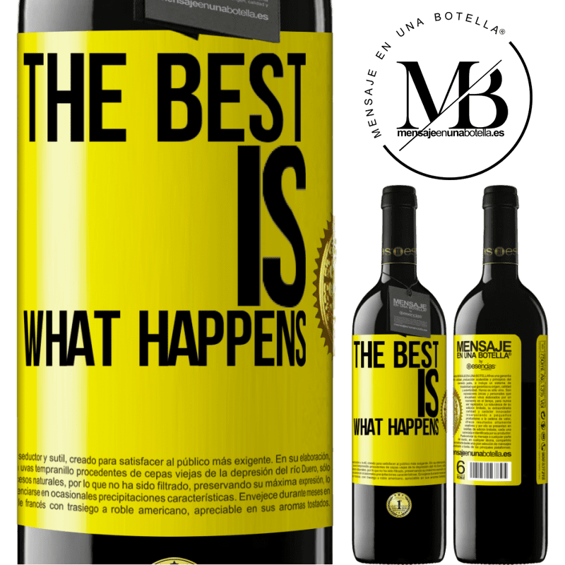 24,95 € Free Shipping | Red Wine RED Edition Crianza 6 Months The best is what happens Yellow Label. Customizable label Aging in oak barrels 6 Months Harvest 2018 Tempranillo