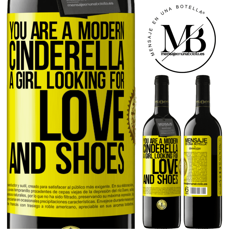 24,95 € Free Shipping | Red Wine RED Edition Crianza 6 Months You are a modern cinderella, a girl looking for love and shoes Yellow Label. Customizable label Aging in oak barrels 6 Months Harvest 2018 Tempranillo