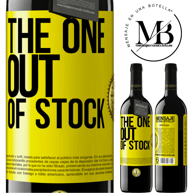 24,95 € Free Shipping | Red Wine RED Edition Crianza 6 Months The one out of stock Yellow Label. Customizable label Aging in oak barrels 6 Months Harvest 2018 Tempranillo