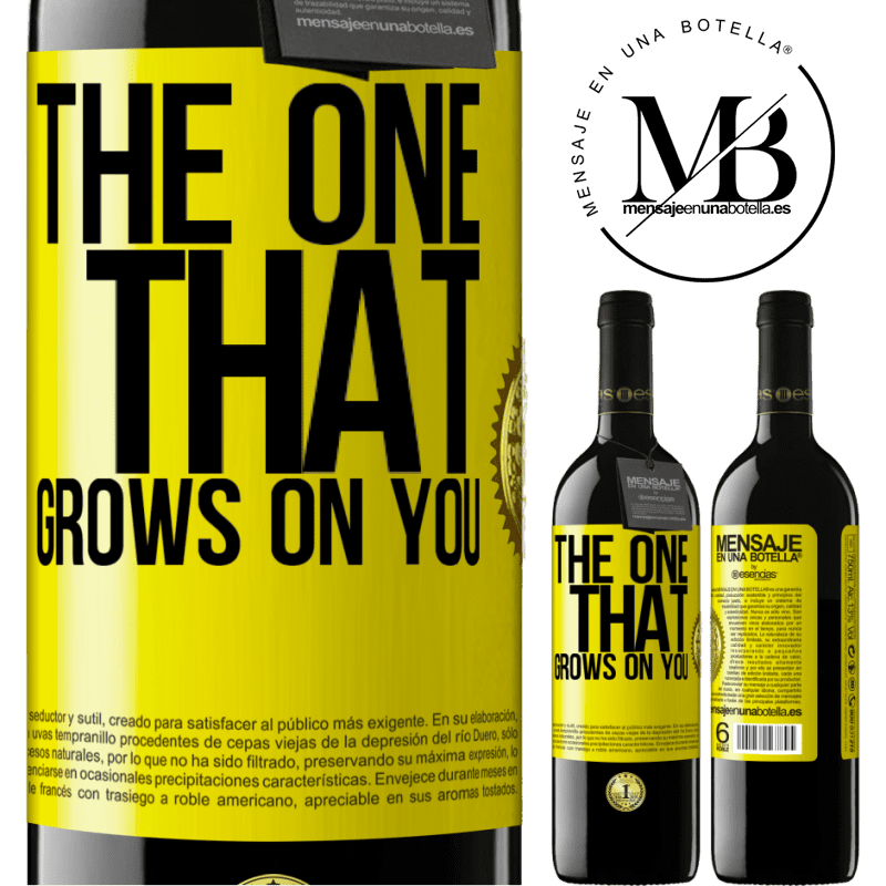 24,95 € Free Shipping   Red Wine RED Edition Crianza 6 Months The one that grows on you Yellow Label. Customizable label Aging in oak barrels 6 Months Harvest 2018 Tempranillo