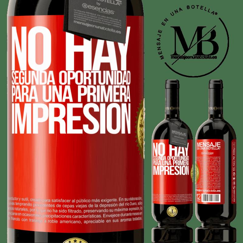 29,95 € Envoi gratuit   Vin rouge Édition Premium MBS® Reserva Il n'y a pas de seconde chance pour une première impression Étiquette Rouge. Étiquette personnalisable Reserva 12 Mois Récolte 2013 Tempranillo