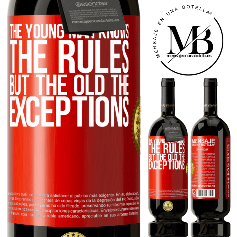 29,95 € Free Shipping | Red Wine Premium Edition MBS® Reserva The young man knows the rules, but the old the exceptions Red Label. Customizable label Reserva 12 Months Harvest 2013 Tempranillo