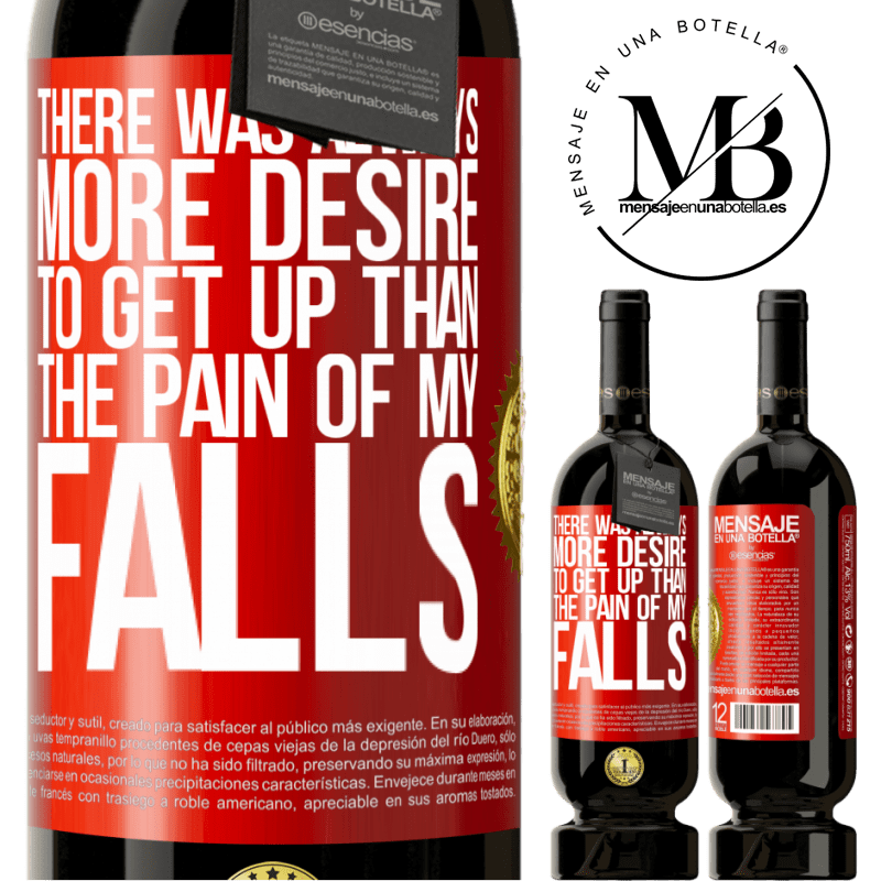 29,95 € Free Shipping | Red Wine Premium Edition MBS® Reserva There was always more desire to get up than the pain of my falls Red Label. Customizable label Reserva 12 Months Harvest 2013 Tempranillo