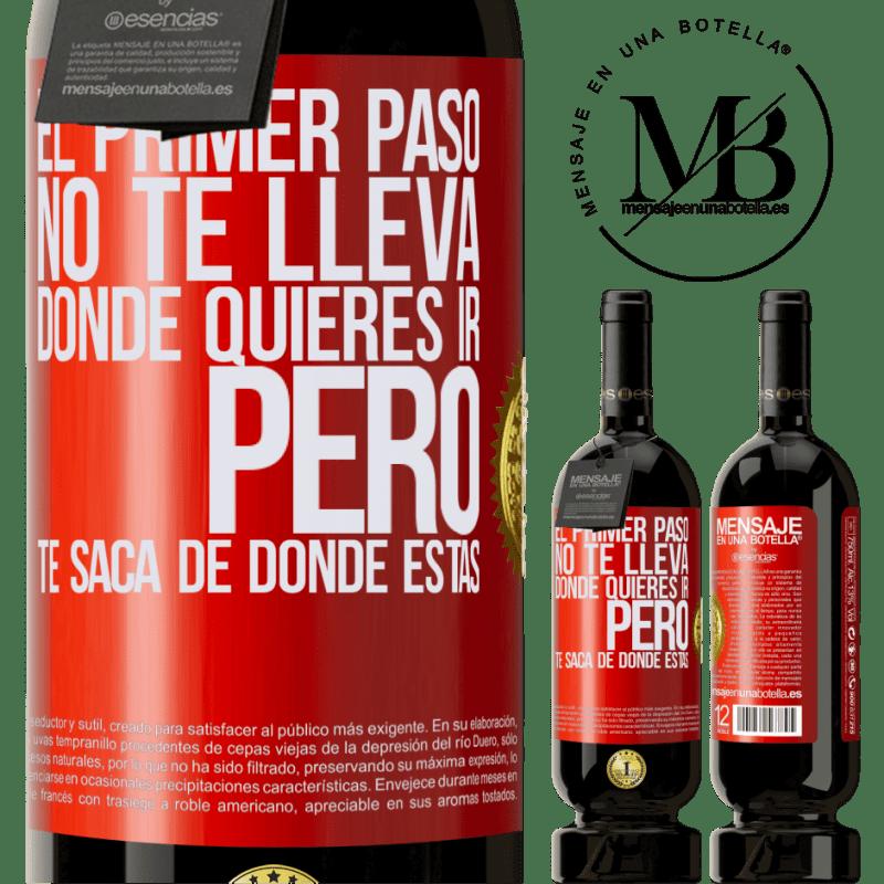29,95 € Envoi gratuit | Vin rouge Édition Premium MBS® Reserva La première étape ne vous emmène pas où vous voulez aller, mais elle vous mène d'où vous êtes Étiquette Rouge. Étiquette personnalisable Reserva 12 Mois Récolte 2013 Tempranillo