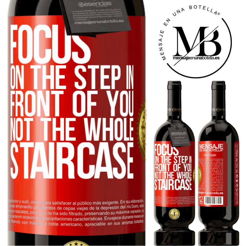 29,95 € Free Shipping | Red Wine Premium Edition MBS® Reserva Focus on the step in front of you, not the whole staircase Red Label. Customizable label Reserva 12 Months Harvest 2013 Tempranillo