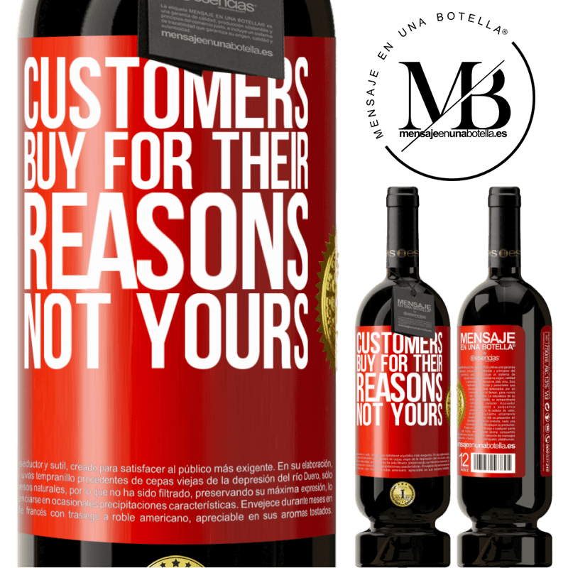29,95 € Free Shipping | Red Wine Premium Edition MBS® Reserva Customers buy for their reasons, not yours Red Label. Customizable label Reserva 12 Months Harvest 2013 Tempranillo