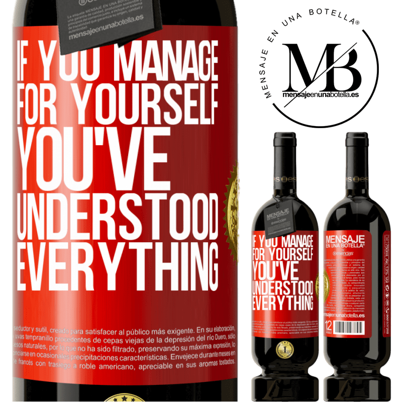 29,95 € Free Shipping | Red Wine Premium Edition MBS® Reserva If you manage for yourself, you've understood everything Red Label. Customizable label Reserva 12 Months Harvest 2013 Tempranillo
