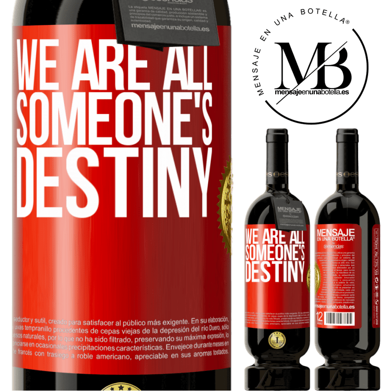 29,95 € Free Shipping | Red Wine Premium Edition MBS® Reserva We are all someone's destiny Red Label. Customizable label Reserva 12 Months Harvest 2013 Tempranillo