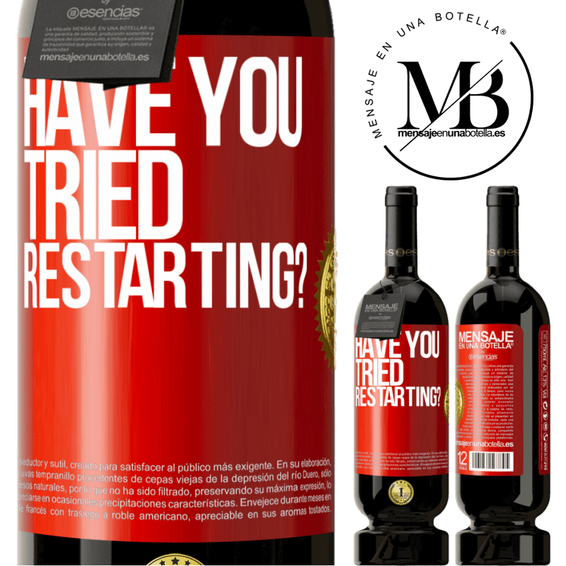 29,95 € Free Shipping   Red Wine Premium Edition MBS® Reserva have you tried restarting? Red Label. Customizable label Reserva 12 Months Harvest 2013 Tempranillo