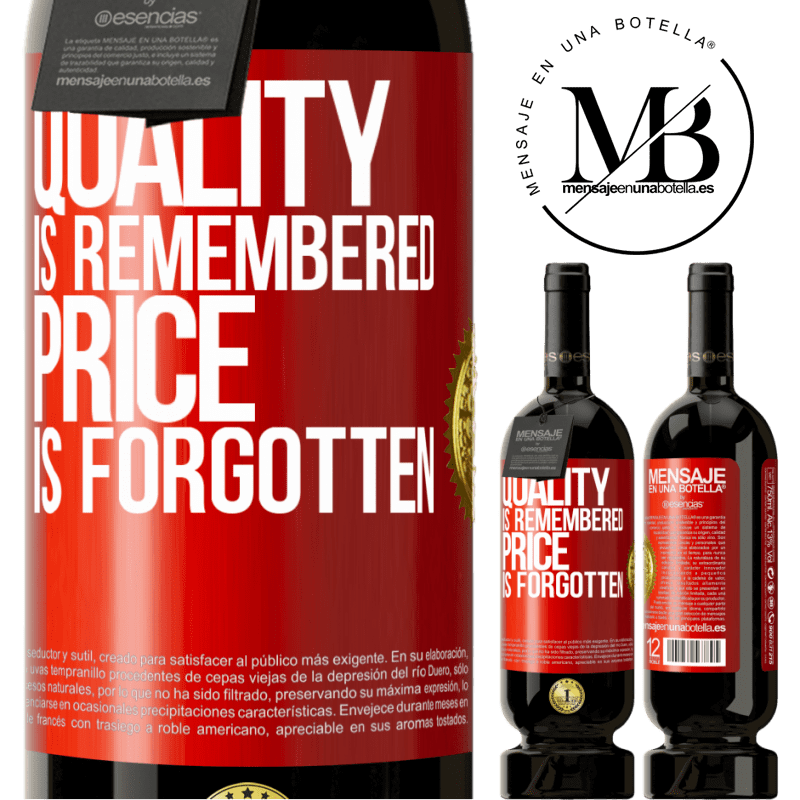 29,95 € Free Shipping | Red Wine Premium Edition MBS® Reserva Quality is remembered, price is forgotten Red Label. Customizable label Reserva 12 Months Harvest 2013 Tempranillo