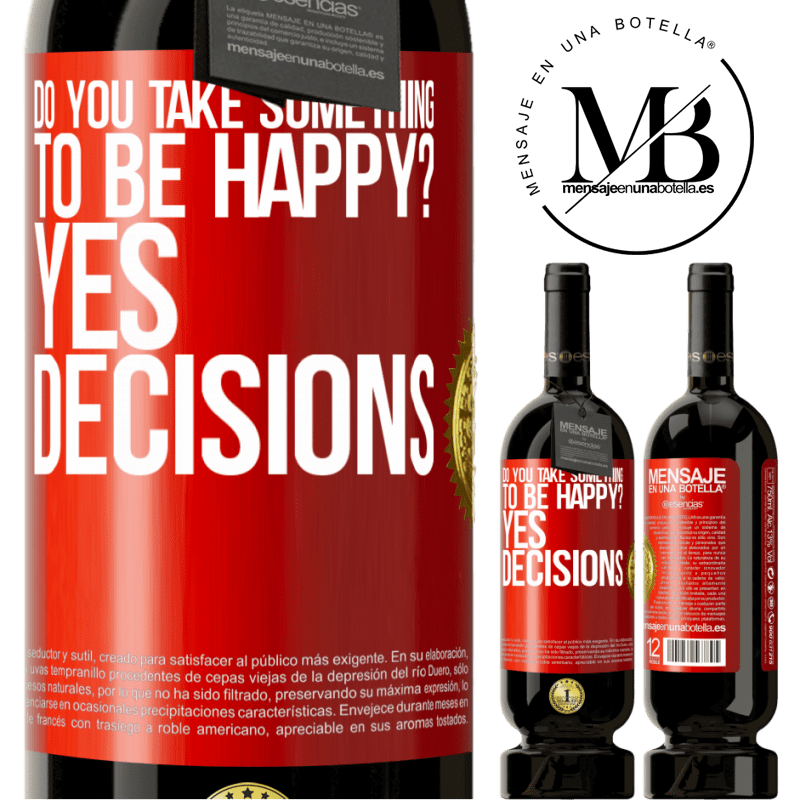 29,95 € Free Shipping | Red Wine Premium Edition MBS® Reserva do you take something to be happy? Yes, decisions Red Label. Customizable label Reserva 12 Months Harvest 2013 Tempranillo