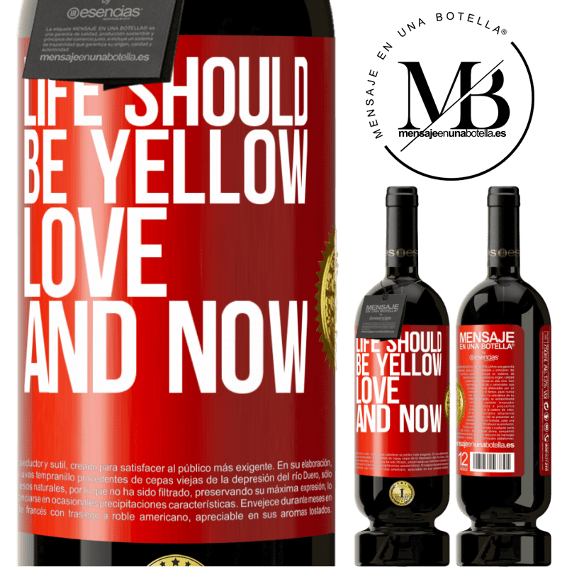 29,95 € Free Shipping | Red Wine Premium Edition MBS® Reserva Life should be yellow. Love and now Red Label. Customizable label Reserva 12 Months Harvest 2013 Tempranillo