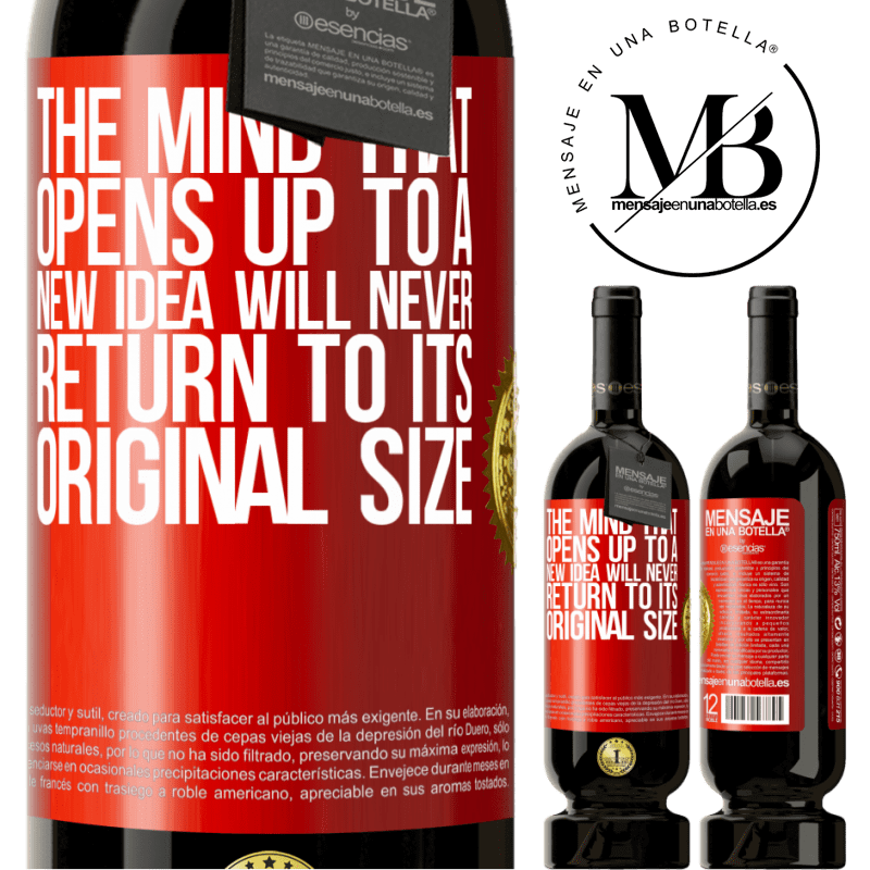 29,95 € Free Shipping | Red Wine Premium Edition MBS® Reserva The mind that opens up to a new idea will never return to its original size Red Label. Customizable label Reserva 12 Months Harvest 2013 Tempranillo