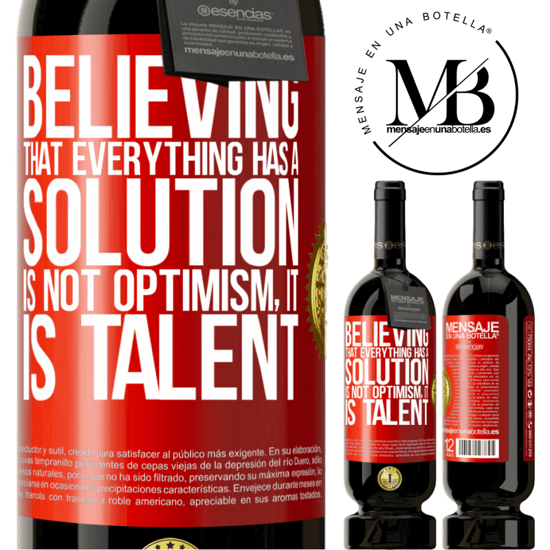 29,95 € Free Shipping | Red Wine Premium Edition MBS® Reserva Believing that everything has a solution is not optimism. Is slow Red Label. Customizable label Reserva 12 Months Harvest 2013 Tempranillo