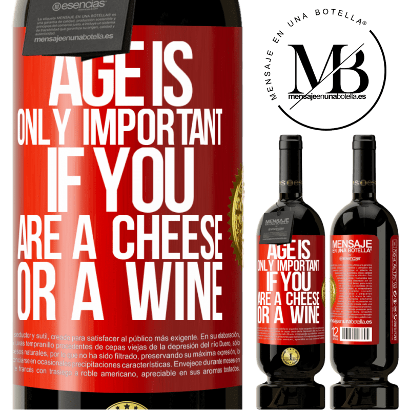 29,95 € Free Shipping | Red Wine Premium Edition MBS® Reserva Age is only important if you are a cheese or a wine Red Label. Customizable label Reserva 12 Months Harvest 2013 Tempranillo