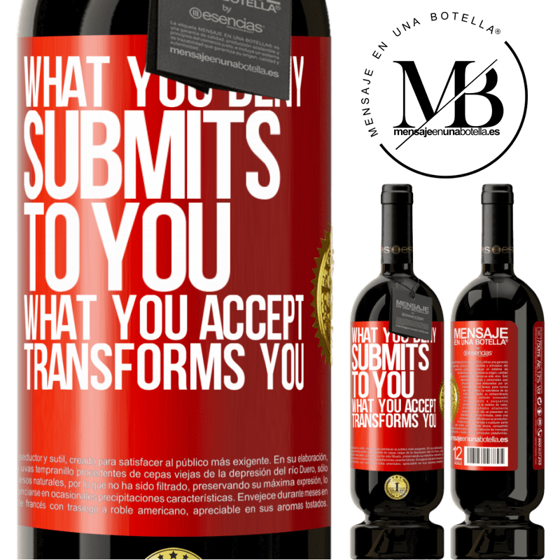 29,95 € Free Shipping | Red Wine Premium Edition MBS® Reserva What you deny submits to you. What you accept transforms you Red Label. Customizable label Reserva 12 Months Harvest 2013 Tempranillo