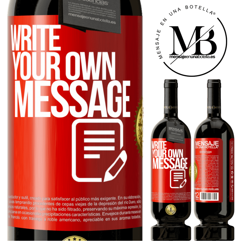29,95 € Free Shipping   Red Wine Premium Edition MBS® Reserva Write your own message Red Label. Customizable label Reserva 12 Months Harvest 2013 Tempranillo