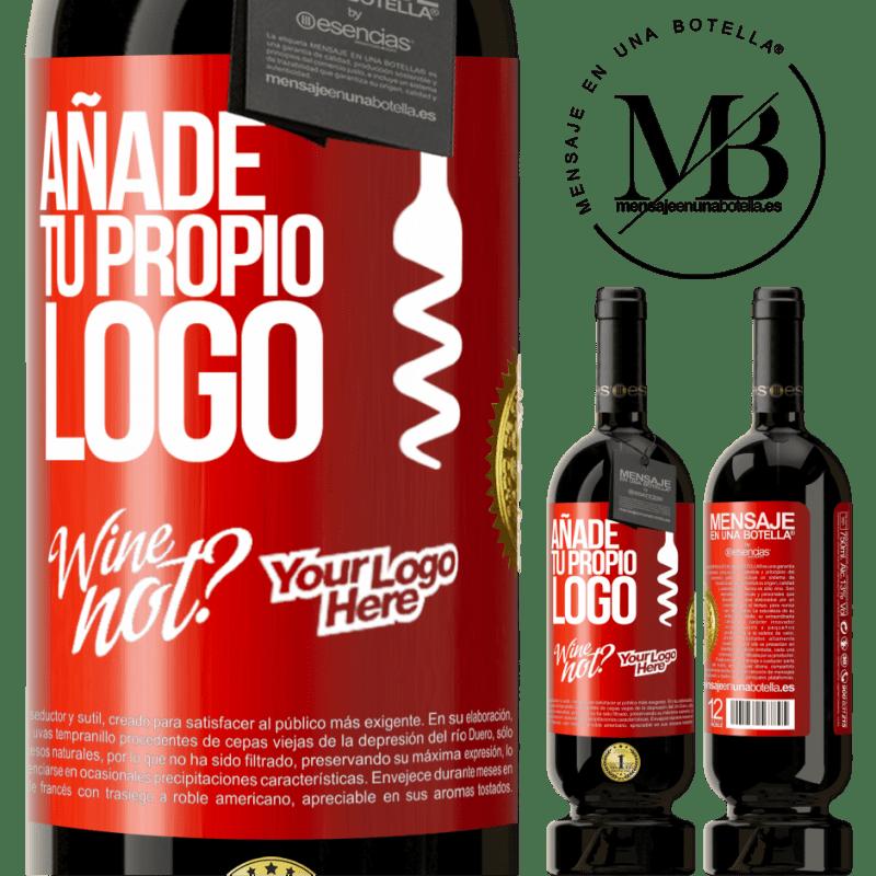 29,95 € Envío gratis | Vino Tinto Edición Premium MBS® Reserva Añade tu propio logo Etiqueta Roja. Etiqueta personalizable Reserva 12 Meses Cosecha 2013 Tempranillo