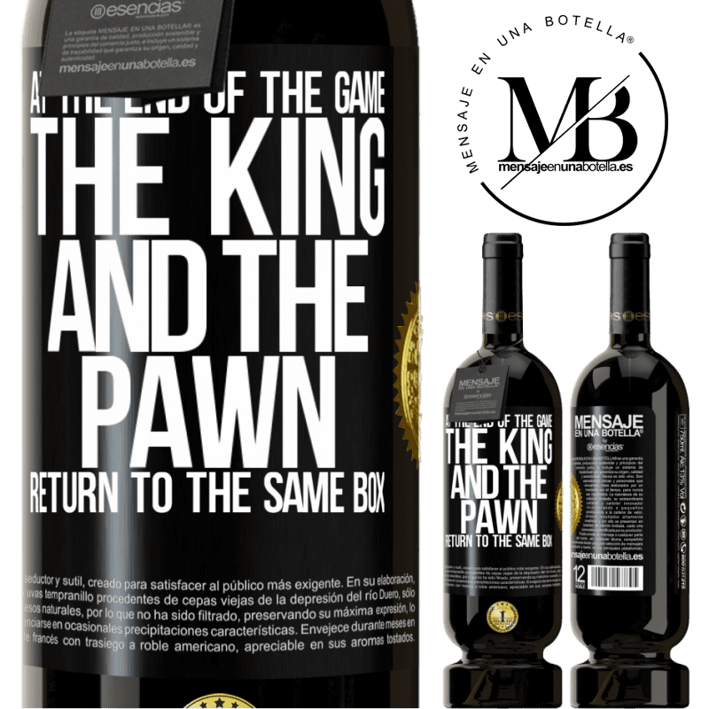 29,95 € Free Shipping   Red Wine Premium Edition MBS® Reserva At the end of the game, the king and the pawn return to the same box Black Label. Customizable label Reserva 12 Months Harvest 2013 Tempranillo
