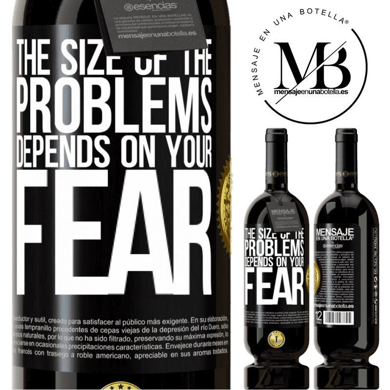 29,95 € Free Shipping | Red Wine Premium Edition MBS® Reserva The size of the problems depends on your fear Black Label. Customizable label Reserva 12 Months Harvest 2013 Tempranillo