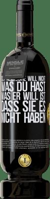 29,95 € Kostenloser Versand | Rotwein Premium Edition MBS® Reserva Der Neidische will nicht, was du hast. Was er will, ist, dass Sie es nicht haben Schwarzes Etikett. Anpassbares Etikett Reserva 12 Monate Ernte 2013 Tempranillo