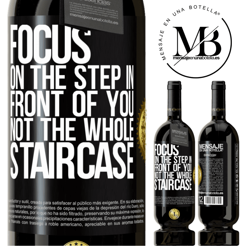 29,95 € Free Shipping | Red Wine Premium Edition MBS® Reserva Focus on the step in front of you, not the whole staircase Black Label. Customizable label Reserva 12 Months Harvest 2013 Tempranillo