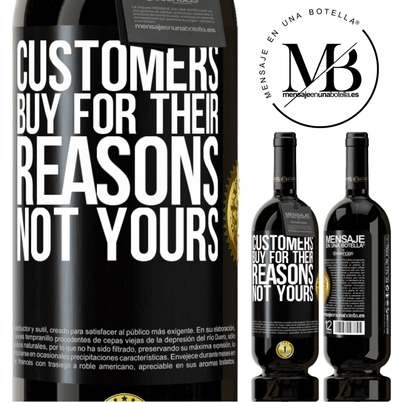 29,95 € Free Shipping | Red Wine Premium Edition MBS® Reserva Customers buy for their reasons, not yours Black Label. Customizable label Reserva 12 Months Harvest 2013 Tempranillo
