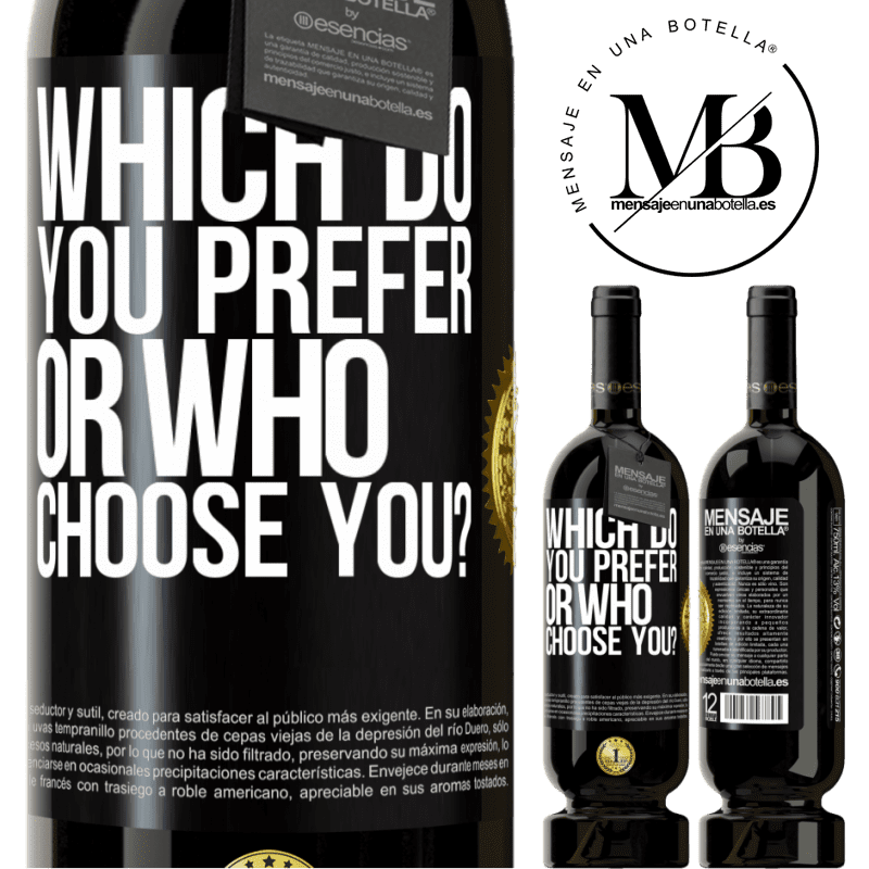 29,95 € Free Shipping | Red Wine Premium Edition MBS® Reserva which do you prefer, or who choose you? Black Label. Customizable label Reserva 12 Months Harvest 2013 Tempranillo