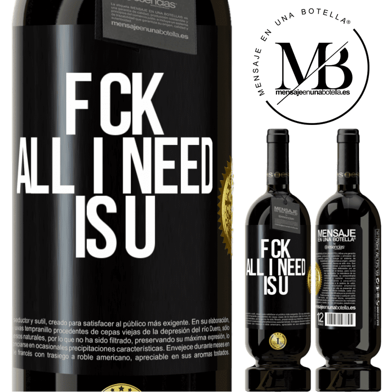 29,95 € Free Shipping | Red Wine Premium Edition MBS® Reserva F CK. All I need is U Black Label. Customizable label Reserva 12 Months Harvest 2013 Tempranillo